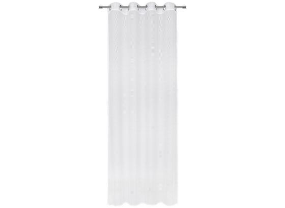 Záves S Krúžkami Moritz - biela, textil (140/245cm) - Mömax modern living