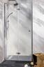 Glas Falttür Sanoflex Serie Duet L 95-97cm - Transparent, KONVENTIONELL, Glas (95-97/195cm)