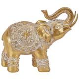 Dekoelefant Arnav - Goldfarben/Weiß, Basics, Kunststoff (21/8,5/16,5cm) - Ombra