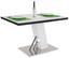 Étkezőasztal Metz 120 - Nemesacél/Szürke, modern, Faalapú anyag/Üveg (120/76/80cm)