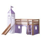 Spielbett Alex 90x200 cm Buche Massiv - Flieder/Weiß, Design, Holz/Textil (90/200cm) - MID.YOU