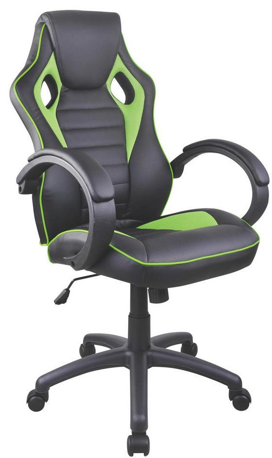 Kancelářské Křeslo Speedy - černá/zelená, Moderní, kov/textil (61/110-120/63cm)
