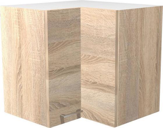 Rohová Horní Skříňka Samoa  He 60 - bílá/barvy dubu, Konvenční, dřevěný materiál (60/54/32cm)