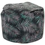Sitzsack Jungle - Silberfarben/Schwarz, MODERN, Textil (85/85/120cm) - OMBRA