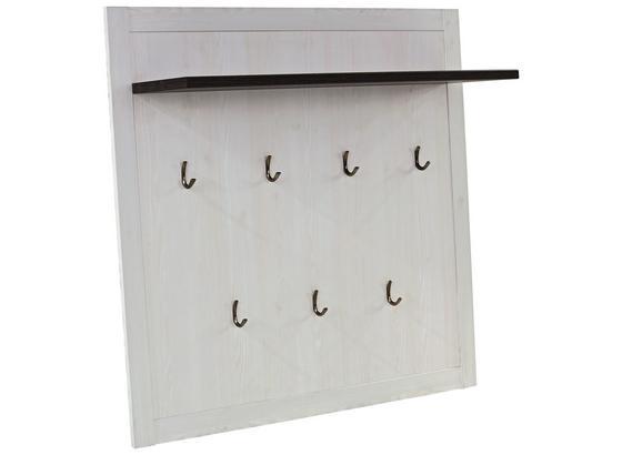 Šatní Panel Provence - bílá/barvy wenge, Moderní, kompozitní dřevo (115/104/28cm) - James Wood