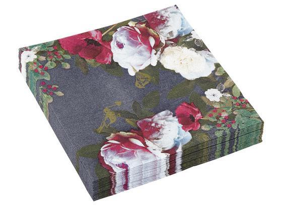 Servítky Mathilda - biela/ružová, Design, papier (33/33cm)