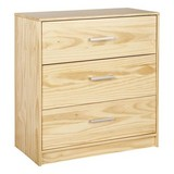 Kommode Echtholz Massiv B 70cm New York, Kiefer Naturfarben - Naturfarben, Basics, Holz (70/71/35cm) - MID.YOU