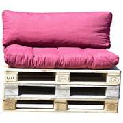 Palettenkissen 2-tlg. Loungeset - Bordeaux, MODERN, Textil (120/80/16cm)