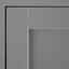 Servírovací Vozík Hendrik - sivá/farby ušľachtilej ocele, Moderný, kov (65/91,5/45cm) - Modern Living