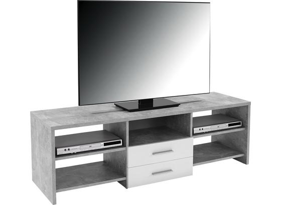 Stolek Na Elektroniku Tico - šedá/bílá, Moderní, dřevo (150/45/40cm)
