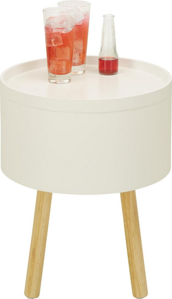 Odkládací Stolek Alena - bílá/hnědá, Moderní, dřevo/dřevěný materiál (38/45/38cm) - Mömax modern living