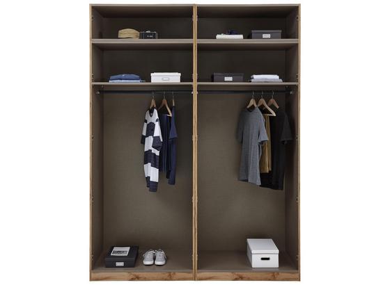 Kleiderschrank Unit Offener Schrank,breit ca.182cm - Anthrazit, MODERN, Holzwerkstoff (182,2/242,2/56,5cm) - Ombra