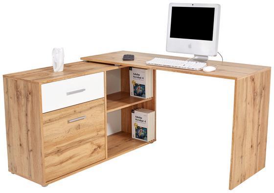 Písací Stôl Prag 138 - farby dubu, Moderný, drevený materiál (138/74/120cm)
