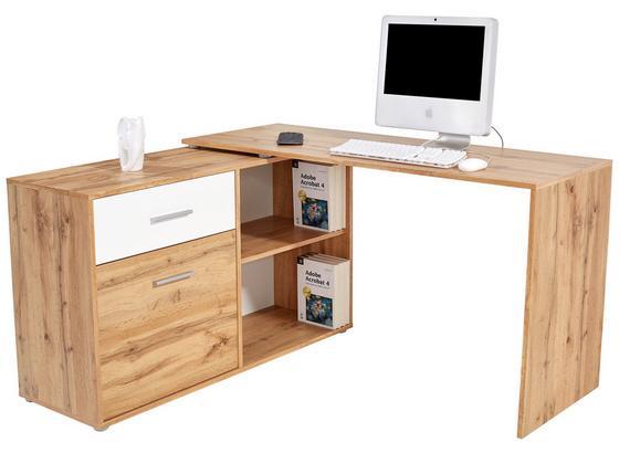 Psací Stůl Prag 138 - barvy dubu, Moderní, kompozitní dřevo (138/74/120cm)
