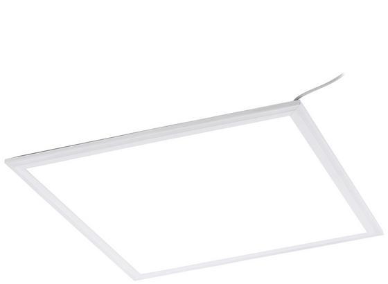Einbau-Rasterleuchte Salobrena Eco - Weiß, MODERN, Kunststoff/Metall (45/45/1,1cm)