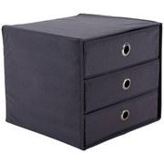 Schubladenbox Lisa New - Grau, MODERN, Karton/Textil (32/31,5/32cm)
