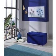 Sitzbank Velvet B: 70 cm Blau - Blau, MODERN, Holzwerkstoff/Textil (70/38/38cm)