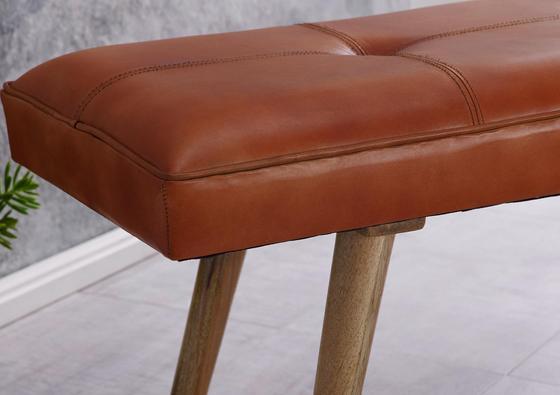 Sitzbank mit Lederbezug