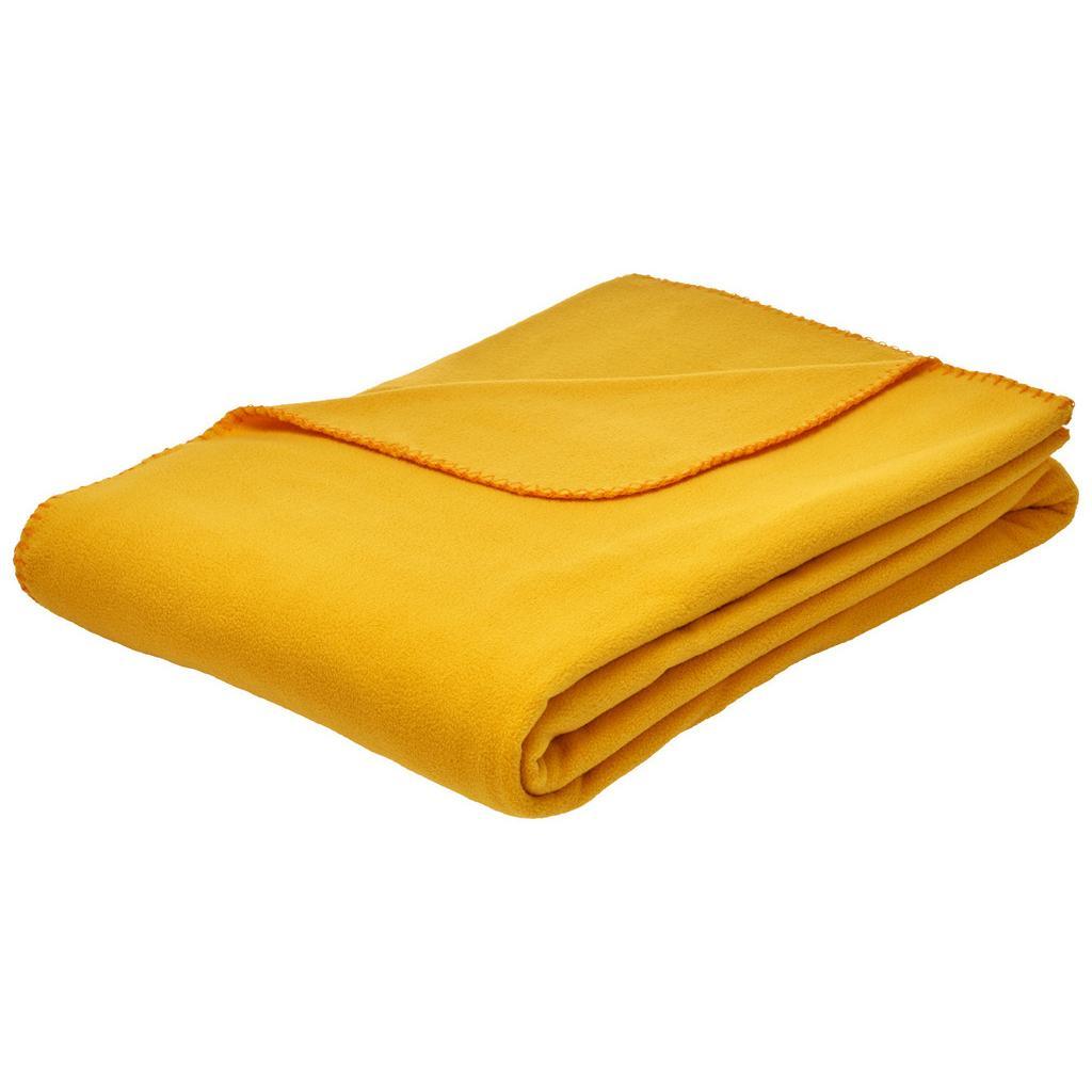 Fleecová Deka Felix, 150/200cm, Žlutá