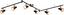 LED-Spotleuchte Dilara - Schwarz/Kupferfarben, MODERN, Kunststoff/Metall (150/42/16,5cm)
