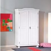 Drehtürenschrank Massiv 104cm Hedda, Weiß - Weiß, LIFESTYLE, Holz (104/180/56cm) - Carryhome