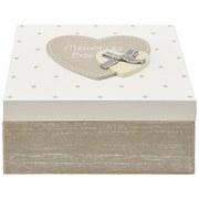Dekobox Lots Of Love - Weiß/Grau, LIFESTYLE, Holz (16,5/16,5/8cm) - Ombra