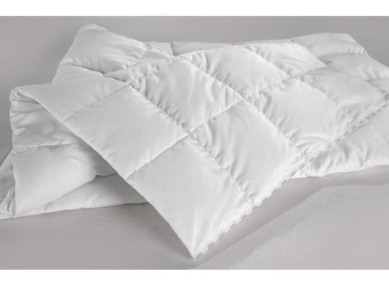 Kazetová Prikrývka Premium Teplá - biela, textil (140/200cm) - Premium Living