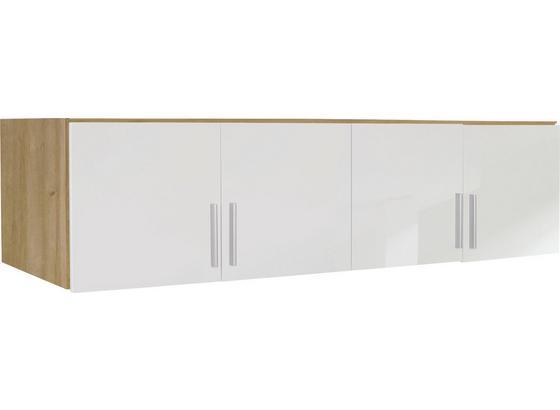 Aufsatzschrank Celle04 B:181cm Weiß/ Riviera Dekor - Eichefarben/Weiß, MODERN, Holz (181/40/54cm)
