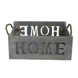 Kiste Home - Grau, Holzwerkstoff (33/13/23cm) - James Wood