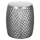 Beistelltisch Sita D: ca. 32 cm Silberfarben - Silberfarben, LIFESTYLE, Metall (32/42/32cm) - Carryhome
