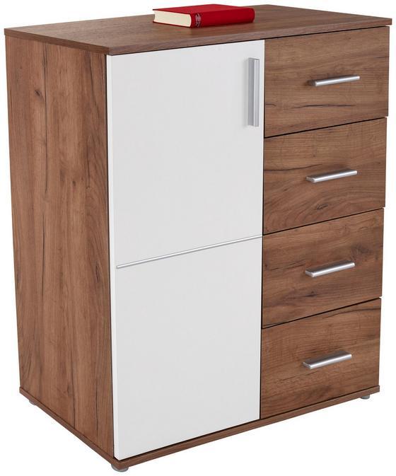 Komoda Ina 02 - farby dubu/biela, Moderný, kompozitné drevo (88,2/95,2/38,3cm)
