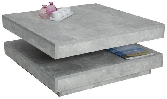 Konferenční Stolek Ben - šedá, Moderní, dřevěný materiál (78/34/78cm)