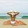 Strandmatte Rimini - Orange, KONVENTIONELL, Textil (150/200cm) - Ombra