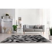 Hochflorteppich Enna, 60/115 - Schwarz/Grau, MODERN, Textil (60/115cm)