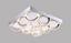 LED-Deckenleuchte Hida - Chromfarben, MODERN, Kunststoff/Metall (38/38/10cm)
