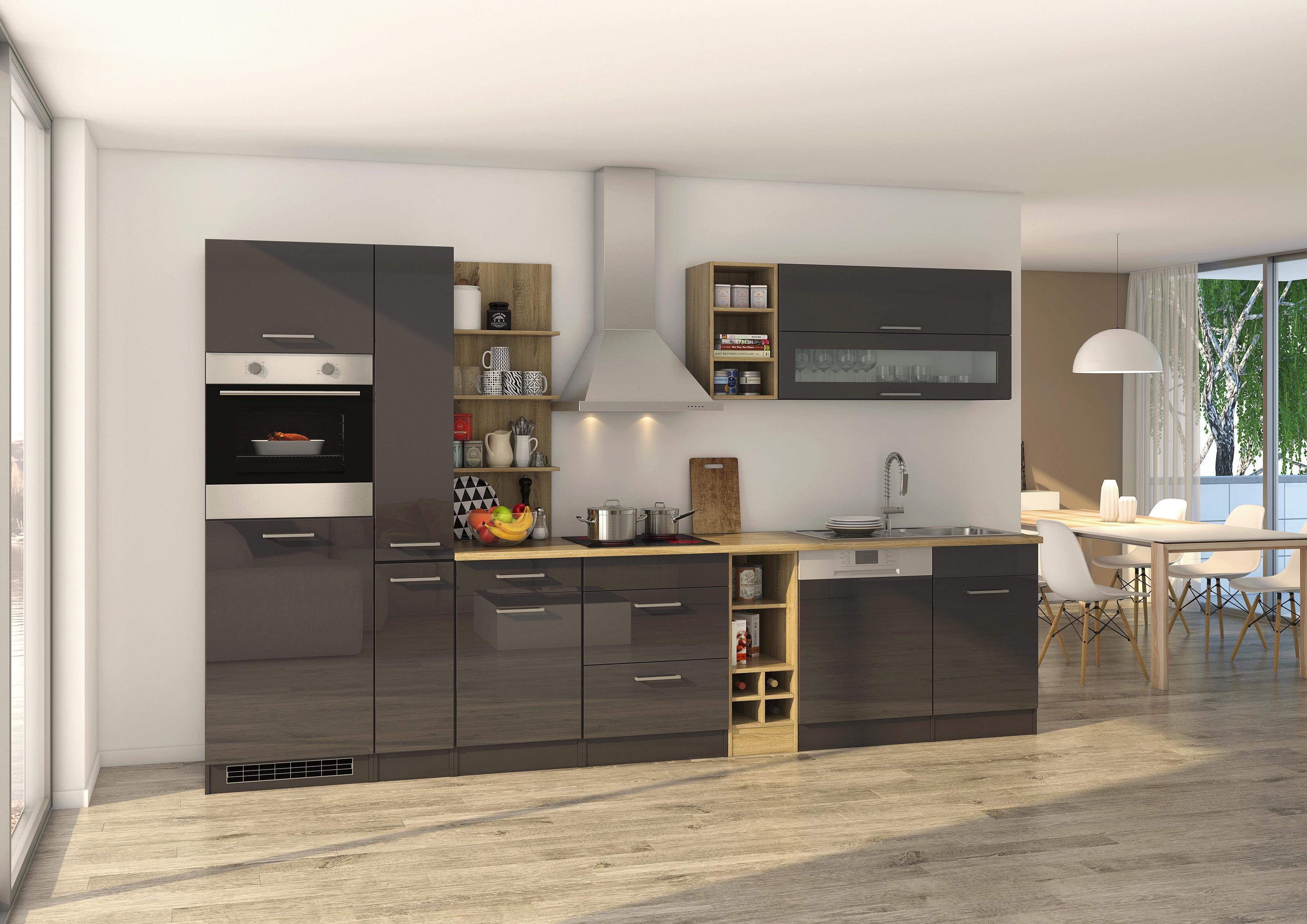 Küchenblock Mailand mit Apothekerschrank