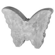 Dekoschmetterling Sam, 14 cm - Grau, MODERN, Stein (14/11/3cm)