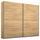 Schwebetürenschrank Belluno B:226cm Sonoma Eiche Dekor - Sonoma Eiche, MODERN, Holzwerkstoff (226/210/62cm)