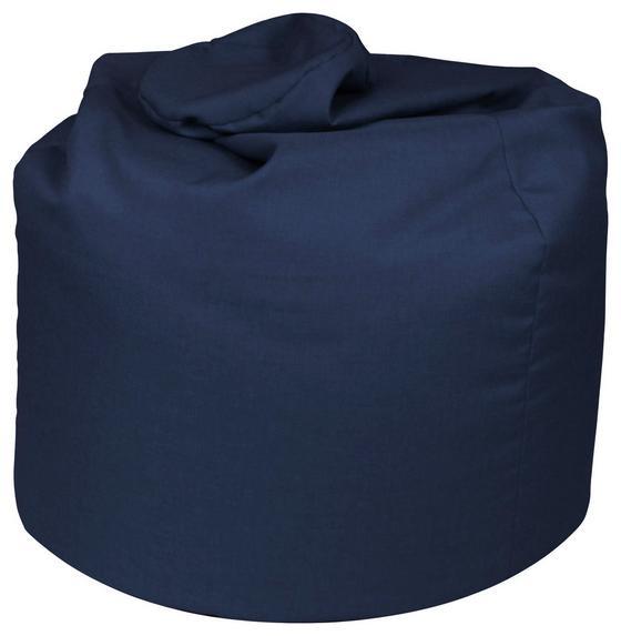 Sitzsack Buzz Soft Blau - Blau/Dunkelblau, MODERN, Textil (85/120/85cm)