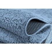 Hochflorteppich Nobel Micro 120 Rund - Blau, MODERN, Textil (120cm)