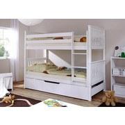Etagenbett Sammy 90x200 cm Weiß - Weiß, MODERN, Holz (90/200cm) - MID.YOU