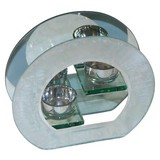 Teelichthalter Moira - Klar/Silberfarben, LIFESTYLE, Glas (18/6/16,5cm) - Luca Bessoni