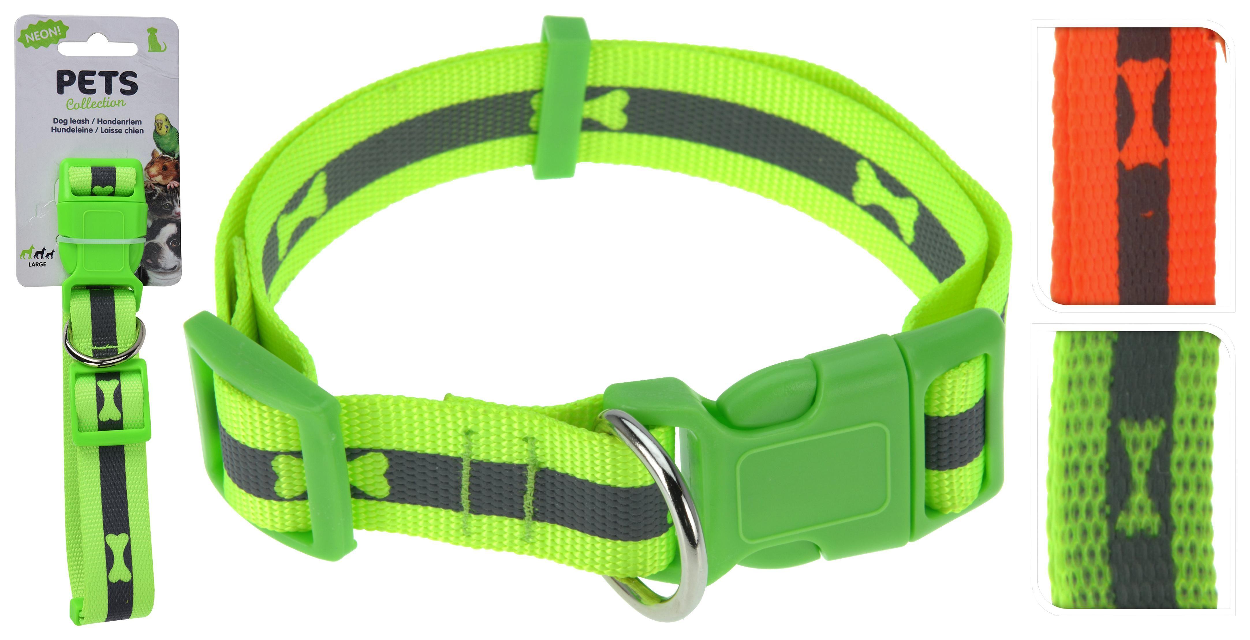 Hundehalsband Reflektierend Large - Gelb/Orange, Basics, Kunststoff/Textil (60cm)
