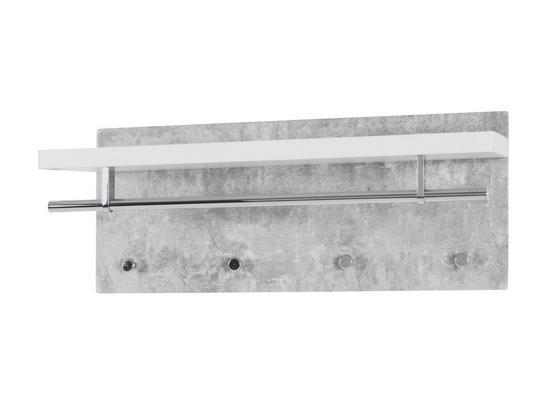 Nástenný Vešiak Pablo 3 - sivá/biela, Moderný, kompozitné drevo (75/30/26cm)