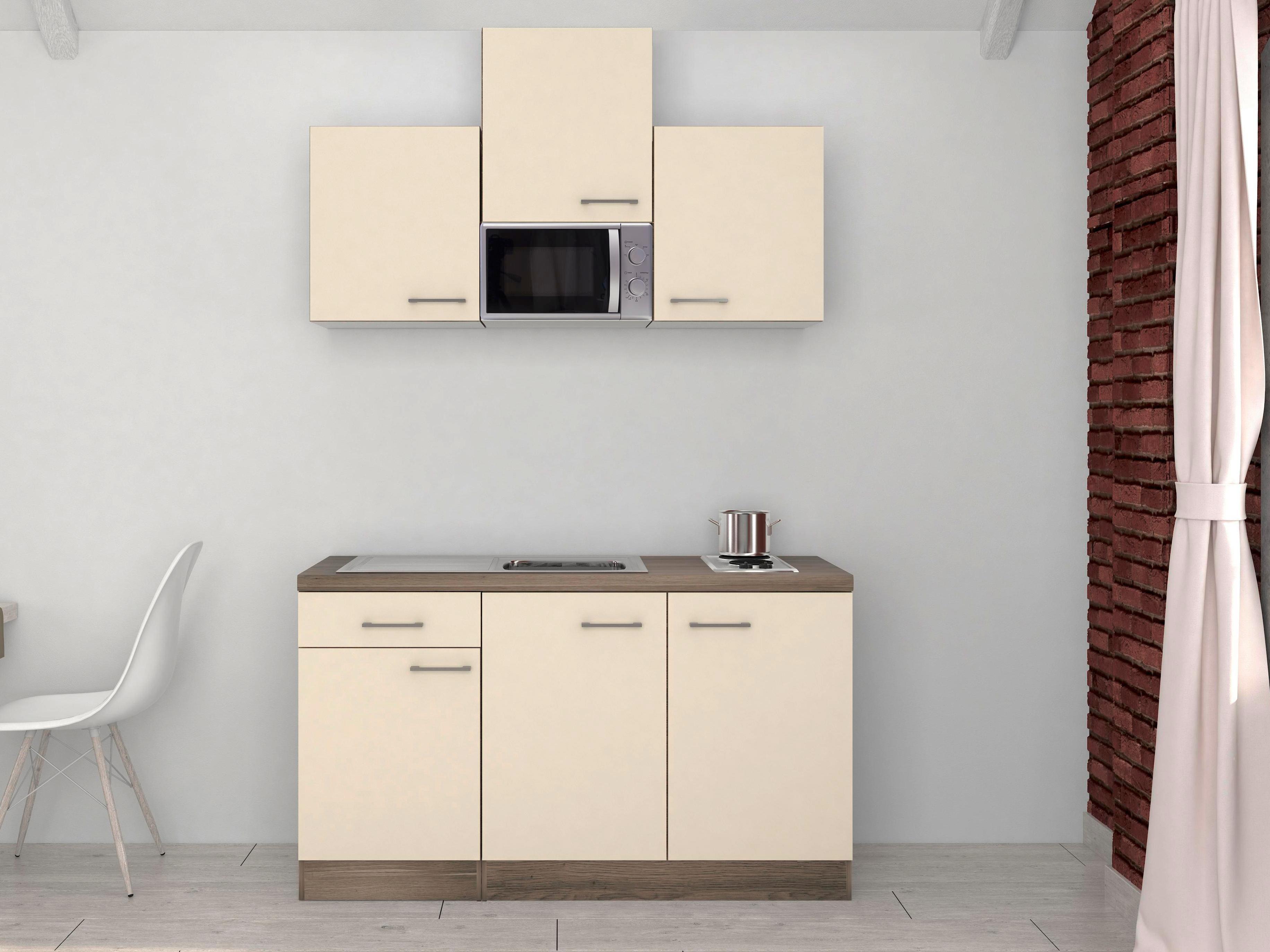 Küchenzeile klein mit Mikrowelle kaufen