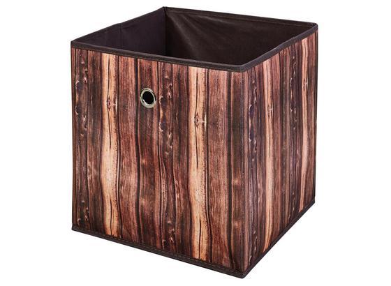 Aufbewahrungsbox Wuddi 2 B: 31,5 cm Brauntöne - Hellbraun/Dunkelbraun, Basics, Textil (31,50/31/31,50cm)