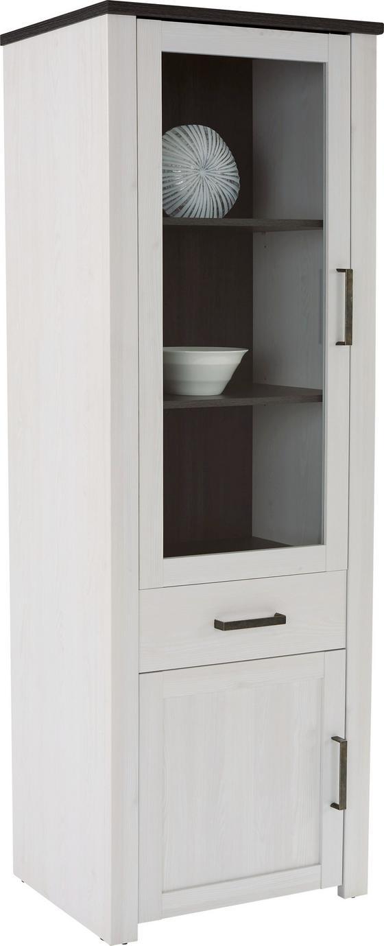 Vitrin Provence - Wenge/Átlátszó, romantikus/Landhaus, Faalapú anyag (71,2/200/42cm) - James Wood