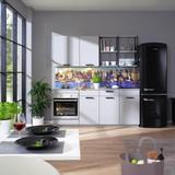 Küchenblock Toronto - Grau, MODERN, Holzwerkstoff (195cm) - Vertico