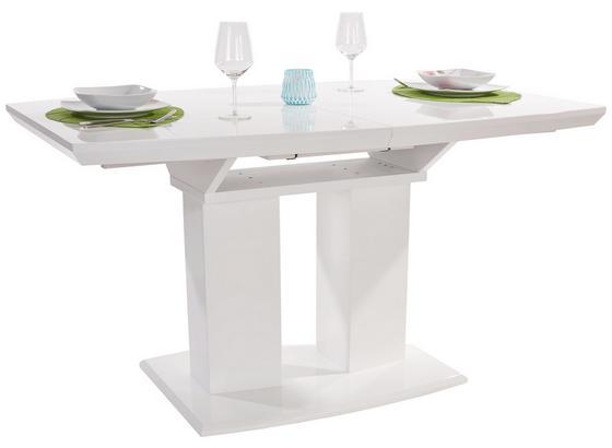 Výsuvný Stůl Malvin 140 Az - bílá, Moderní, kompozitní dřevo (140-180/76/90cm)
