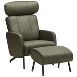 Relaxačné Kreslo Kyoto - čierna/sivá, Moderný, drevo/textil (84/107,5/72cm) - Mömax modern living